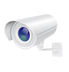 Security camera white cctv surveillance system vector