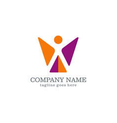 Shape abstract success company logo vector