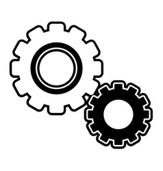 silhouette industry gears process technology vector image