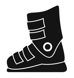 Ski boots icon simple style vector