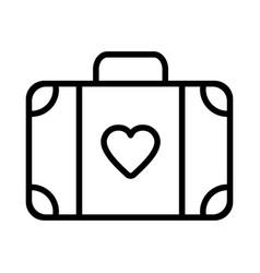 suitcase icon on white background vector image