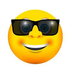 Sunglasses smiling emoji icon vector