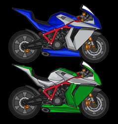 superbike sport motorcycle vector image
