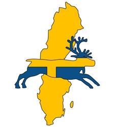 Swedish reindeer vector