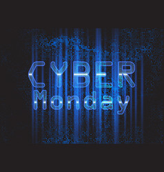 techno modern cyber monday background vector image