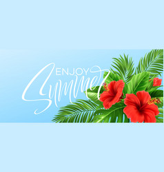 tropical summer background palm leaves vector image