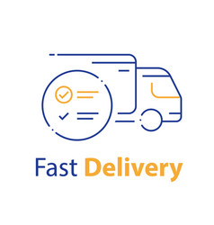 Truck delivery distribution service check list vector
