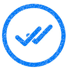Validation rounded grainy icon vector