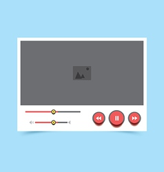 video player v5 vector image