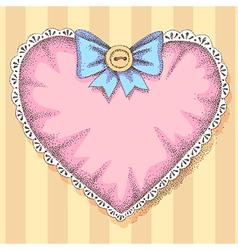 Vintage heart vector