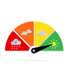 weather icons sign gauge vector image
