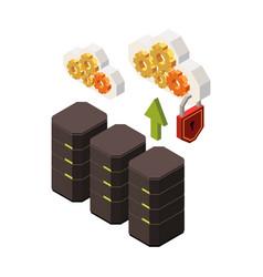 web server upload composition vector image