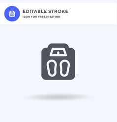 weight scale icon filled flat sign solid vector image