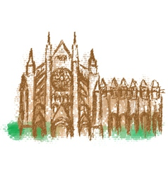 Westminster Abbey abstract silhouette vector image