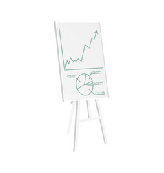 Whiteboard with pie graphic vector