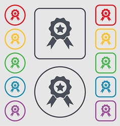 Award medal of honor icon sign symbols on the vector
