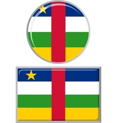 Central African Republic round and square icon vector image