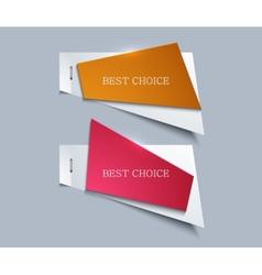 modern paper element design vector image