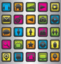 Set of color web icons vector image vector image