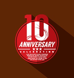 10th Years Anniversary Celebration Design vector image vector image