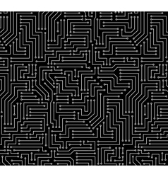 Black and White Printed Circuit Board vector image