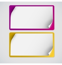 Blank curved banner on white vector image vector image