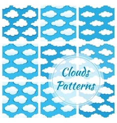 Clouds seamless patterns vector image vector image