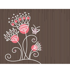 floral background with butterfly vector image vector image