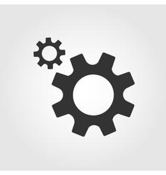 Gear icon flat design vector image vector image