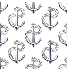 Marine anchor with curling rope vector image vector image