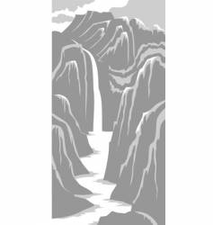 mountains and river vector image vector image