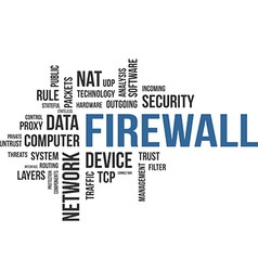 word cloud firewall vector image vector image