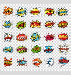comic speech bubbles or sound replicas vector image vector image