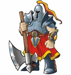 knight with an axe vector image vector image