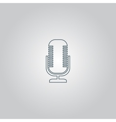 microphone icon vector image vector image