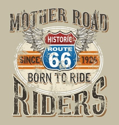mother road rider vector image vector image
