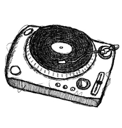 scribble series - turntable vector image vector image