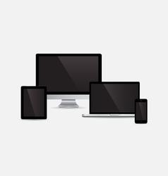 Set of gadget vector image vector image