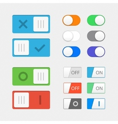 Toggle switch icons vector image