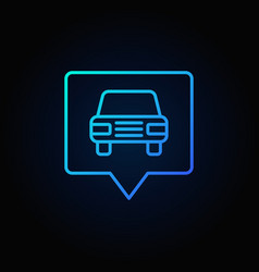 Blue car in square pointer vector