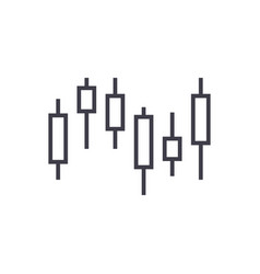 candlestick chart line icon sign vector image vector image