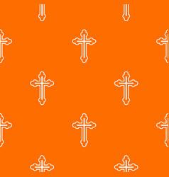 crucifix pattern seamless vector image