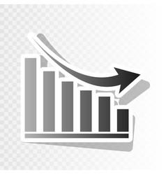 declining graph sign new year blackish vector image