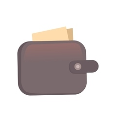 Purse finance bag flat icon vector