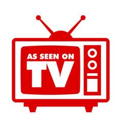 Retro television design icon vector