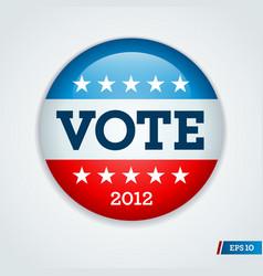 vote 2012 button vector image vector image