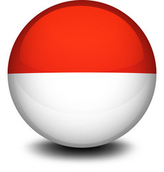 A ball with the flag of indonesia and monaco vector