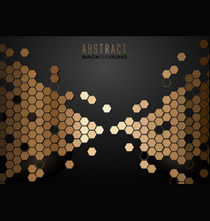 abstract background with golden hexagons vector image