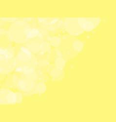 Abstract yellow circular bokeh background vector