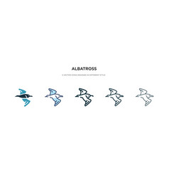 Albatross icon in different style two colored vector